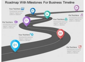 timeline for ppt roadmap with milestones for business timeline flat powerpoint design slide