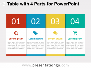 timeline for ppt table parts powerpoint
