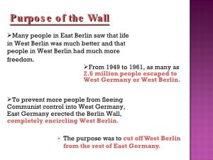 timeline for ppt the berlin wall
