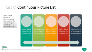 timeline powerpoint template powerpoint smartart continuous picture list