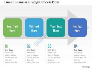 timeline powerpoint template linear business strategy process flow flat powerpoint design slide