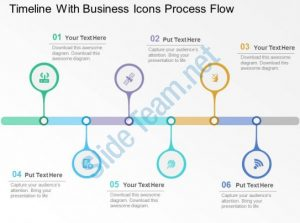 timeline powerpoint template timeline with business icons process flow flat powerpoint design slide