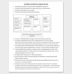 timeline template microsoft word science fair project outline template