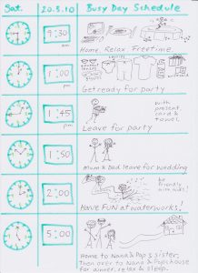 timeline templates for kids busy day schedule
