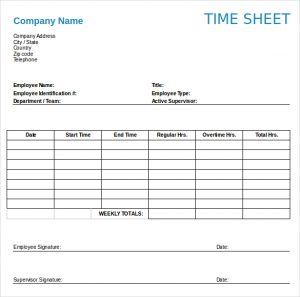 timesheet template free weekly timesheet template download in word format