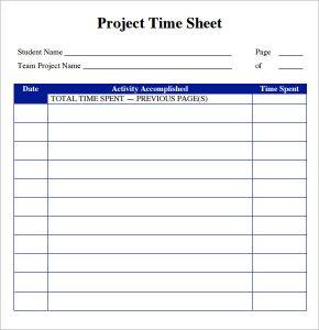timesheet templates word project timesheet format