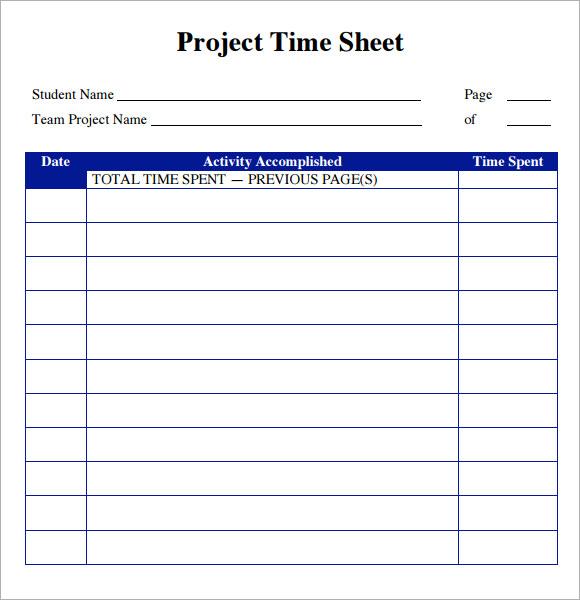 timesheet templates word