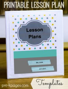 toddler lesson plan templates printable lesson plans