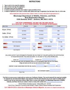 trailer bill of sale pdf mississippi boat bill of sale