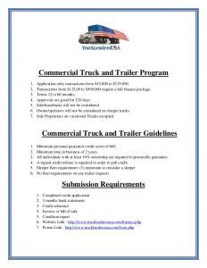 trailer bill of sale template commercial truck financing