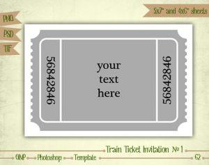 train ticket template il xn itbq
