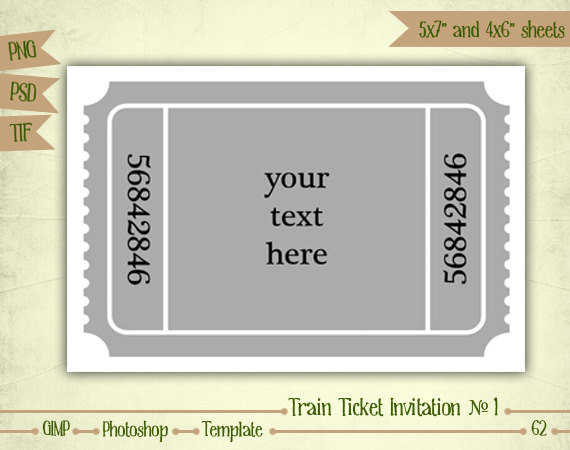 train ticket template
