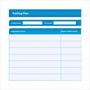 training plan template training plan template pdf
