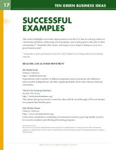training program template green business ideas