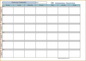 training schedule template blank workout calendar divorce document xjb