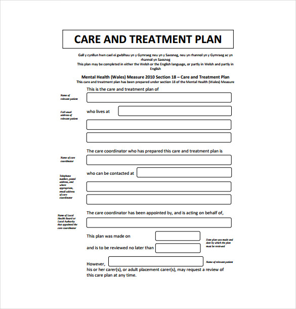 treatment plan template