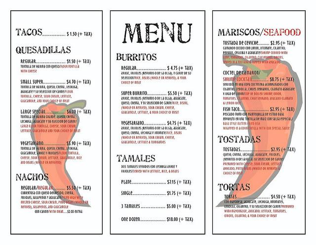 tri fold menu