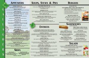 tri fold menu menu trifold