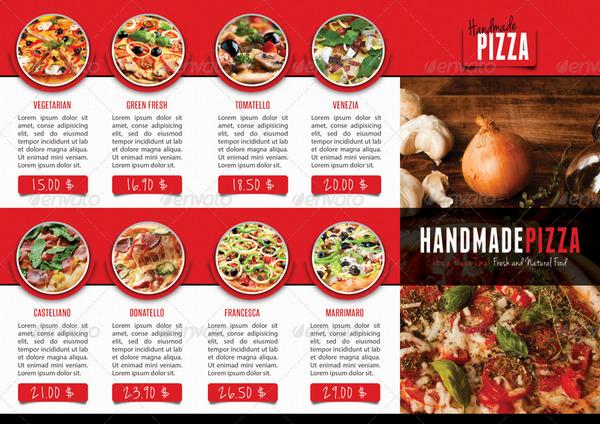 tri fold menu template