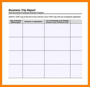 trip report template business trip report template business trip report template sample