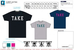 tshirt order form template shirt layout jed take block letters x