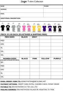 tshirt order form template t shirt order form