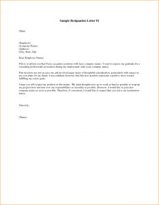 two week notice letter template resignation letters examples