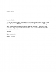 two week notice letters week resignation letter samples