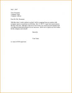two weeks notice letter sample weeks notice resignation letter sample formal resignation