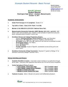undergraduate student cv template student resumeformata