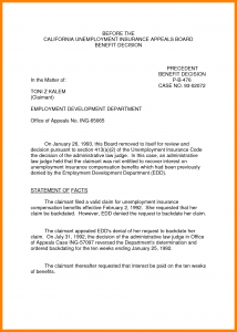 unemployment appeal letter how to write unemployment letter unemployment appeal letter sample