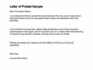 unemployment appeal letter letter of protest sample