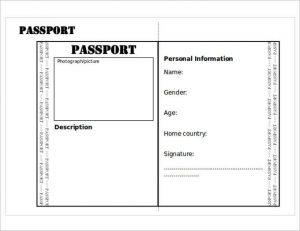 us passport photo template editable passport printable templates