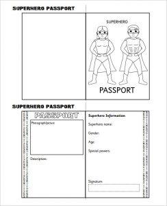 us passport photo template superhero passport writing frame printable template download