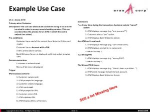 use case document aras and developing deployment use cases and requirements