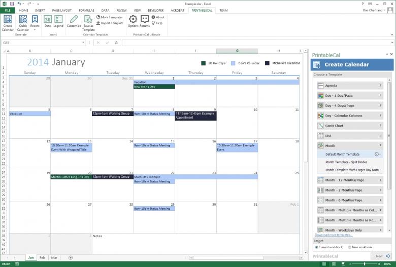vacation budget template