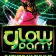valentine day flyer glow party flyer