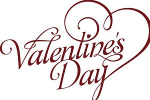 valentine day flyer valentines day font art