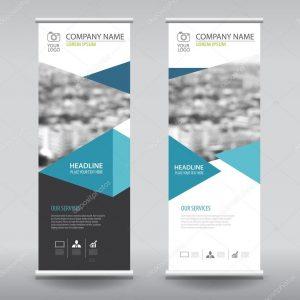 vertical banner design depositphotos stock illustration roll up business brochure flyer