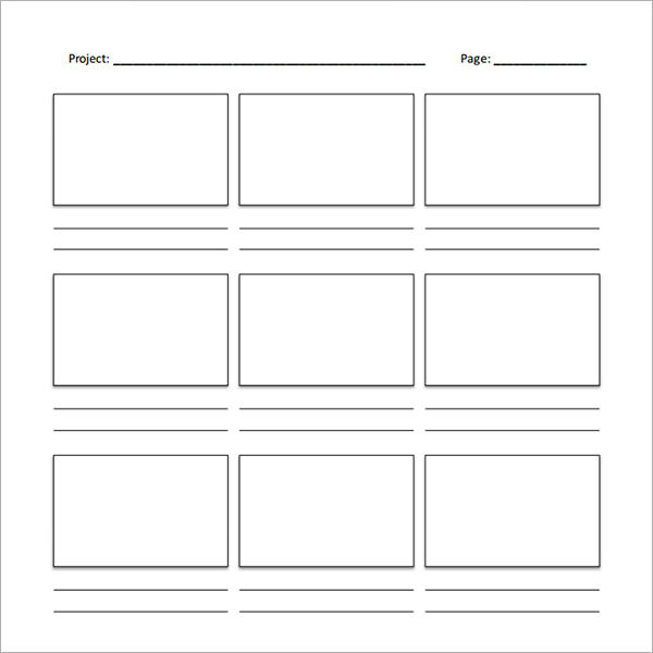 video storyboard template