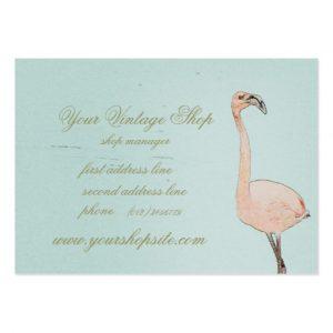 vintage business cards pink flamingo art vintage shop template business card rbcfaadadae xwjeg byvr