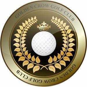 vintage label template golden crown golf club shield