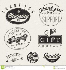 vintage label template títulos tipográficos y símbolos del estilo retro del vintage