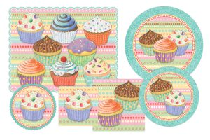 vintage thank you cards tjx cupcake dinnerware