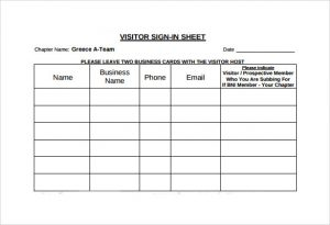 visitor sign in sheets sign in sheet in visitor
