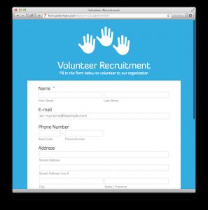 volunteer application template