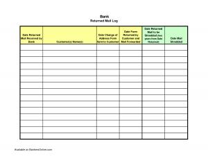 volunteer letter sample incoming mail log template