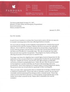 volunteer letter sample pardons canada open letter