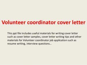 volunteer letter sample volunteer coordinator cover letter