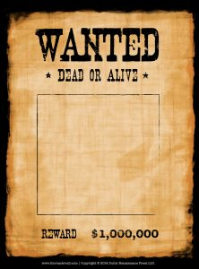 wanted poster template wanted poster template